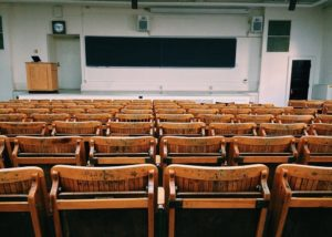 Picture of empty classroom