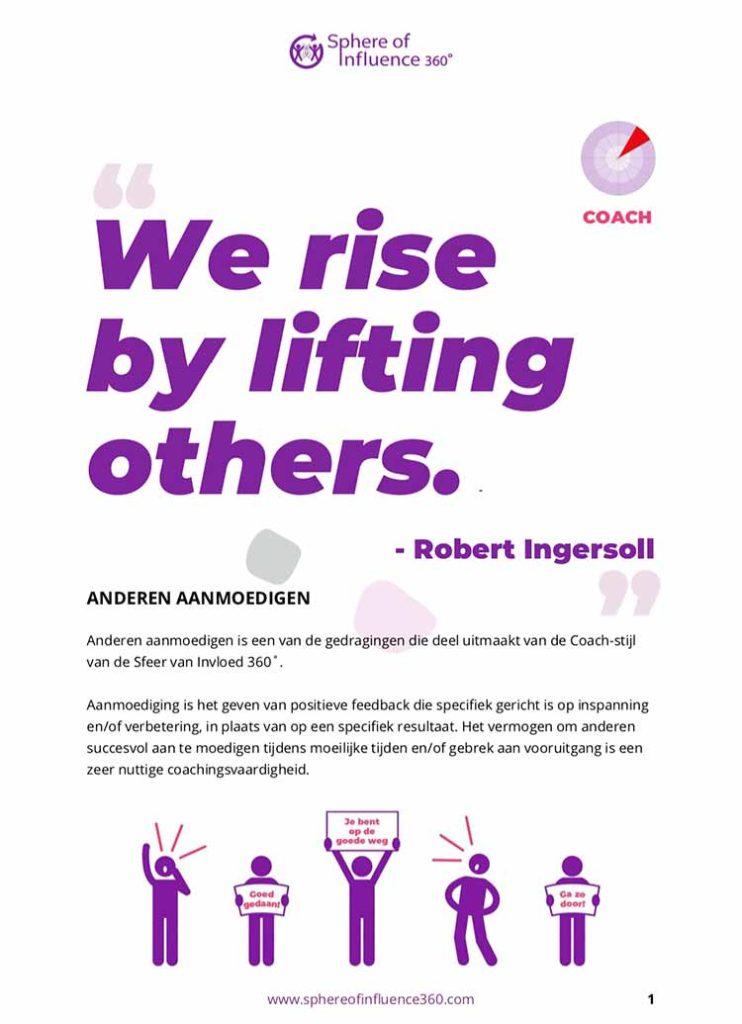 Thumbnail image exercise PDF titled Coachen - Aanmoedigen (Dutch)